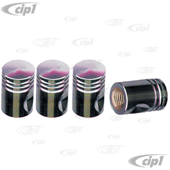 C11-70031 - CHROME PISTON VALVE STEM CAPS - SET OF 4