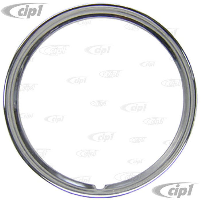 C11-A6224-1 - STAINLESS STEEL TRIM RING - 15 INCH DIAMETER RIMS - SMOOTH STYLE - SOLD EACH
