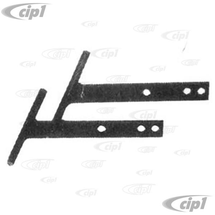 ACC-C10-1126 - BLACK T-BARS  FRONT OR REAR - PAIR - BEETLE 46-67 / GHIA 56-71