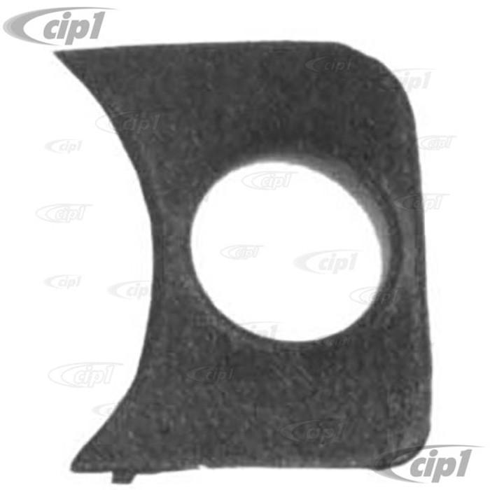 C13-14-1005 - 1 HOLE GAUGE PANEL - RIGHT SIDE OF DASH 58-77 STD BEETLE FITS ALL 2-1/16 inch GAUGES - BLACK