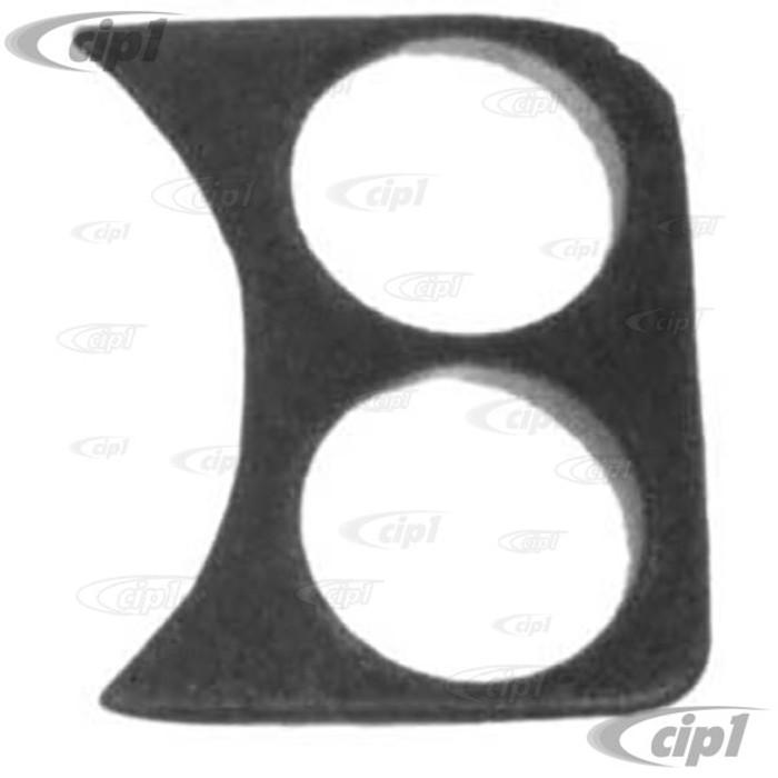 C13-14-1007 - 2 HOLE GAUGE PANEL - RIGHT SIDE OF DASH 58-77 STD BEETLE FITS ALL 2-1/16 inch GAUGES - BLACK