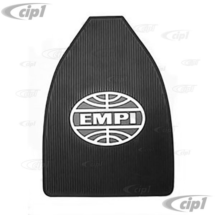 C13-15-1099 - EMPI LOGO FLOOR MATS 2PC FRONT ALL BEETLES -BLACK WITH BLUE & WHITE LOGO