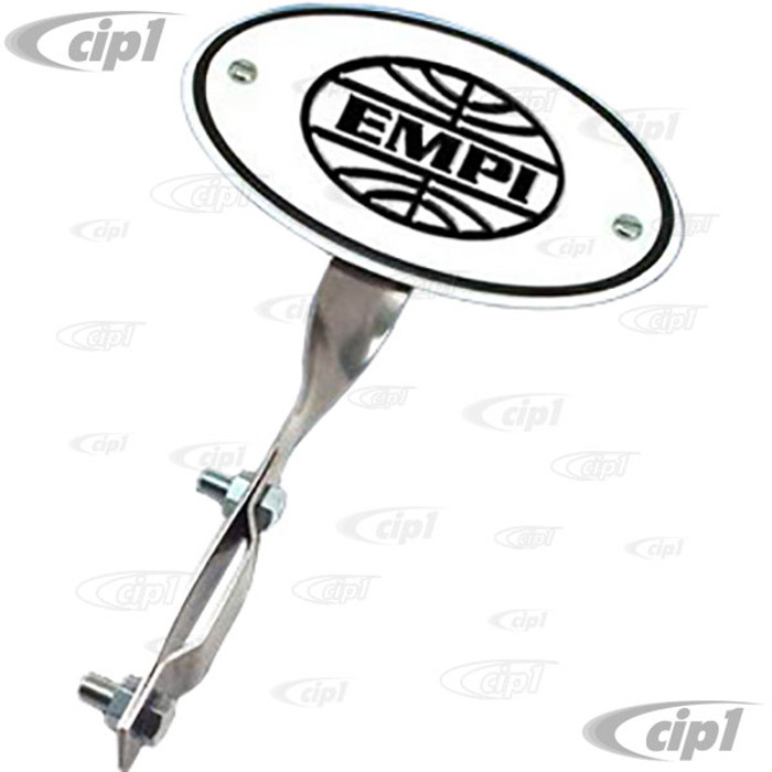 C13-15-2040 - EMPI - ORIGIN PLATE WITH STAINLESS STEEL MOUNTING BRACKET - BEETLE 46-67 - SOLD EACH