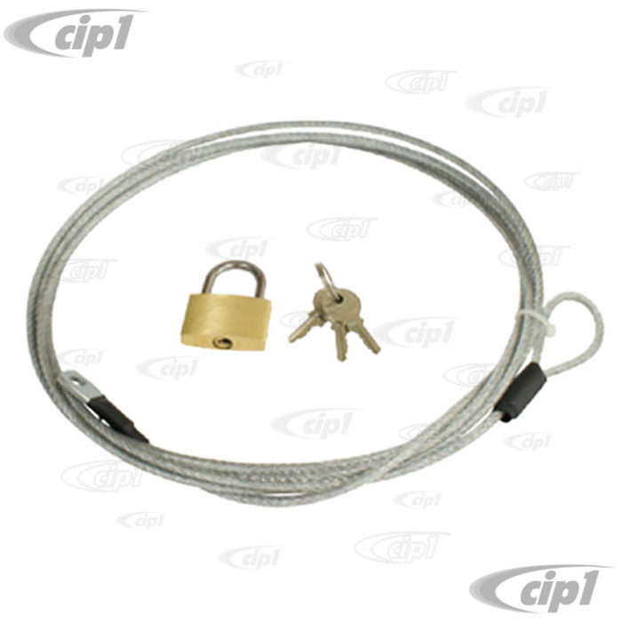 C13-15-6415 - EMPI - CAR COVER LOCK & CABLE - FITS ALL COVERS WITH HOLD DOWN EYELETS - SOLD EACH