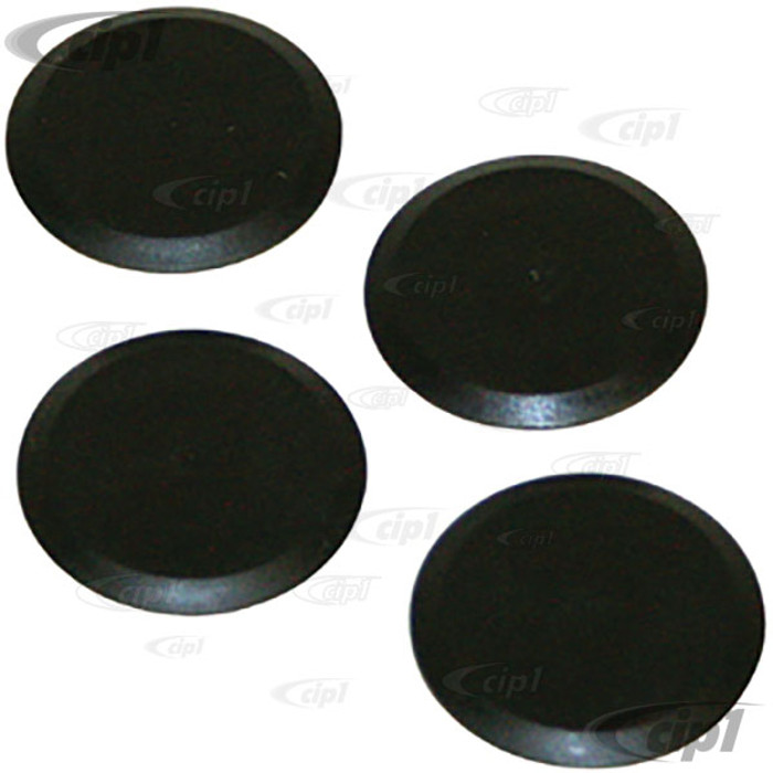 C13-16-9526 - 4 PIECE SETS OF BUMPER SUPPORT TUBE SEAL PLUGS (WHEN ELIMINATING OVER-RIDER TUBES) - FRONT AND REAR - BEETLE 55-67 - SOLD SET OF 4