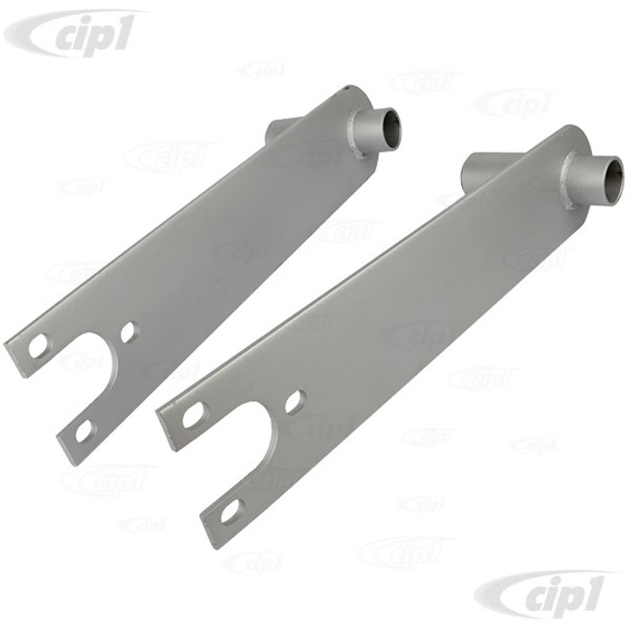C13-17-2660 - EMPI - HEAVY DUTY SPRING PLATES WITH 4-1/4 IN. COLLAR (PAINTED) - BEETLE/GHIA SWING AXLE WITH 24-11/16 INCH LONG TORSION BARS - SOLD PAIR