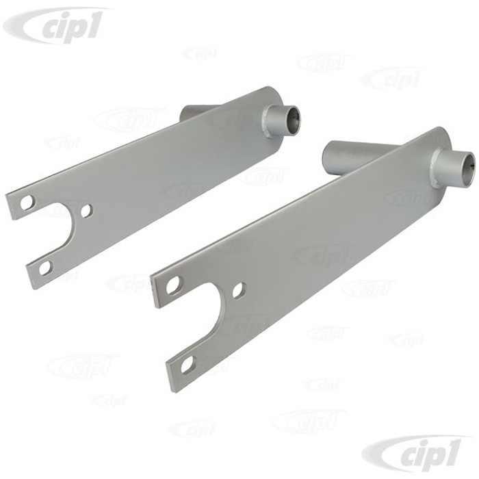 C13-17-2662 - EMPI - HEAVY DUTY SPRING PLATES WITH 6-1/8 IN. COLLAR (PAINTED) - BEETLE/GHIA SWING AXLE WITH 26-9/16 INCH LONG TORSION BARS - SOLD PAIR