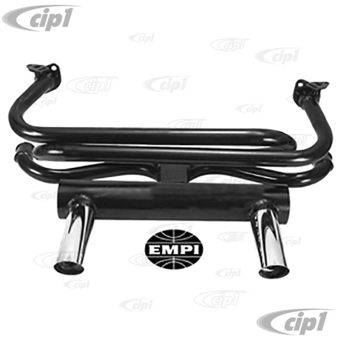 C13-3417 - EMPI BRAND - LARGE 2-TIP GT EXHAUST - BEETLE 66-74 / GHIA 66-74 - (A20)