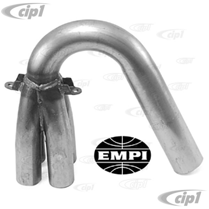 C13-3453 - EMPI BRAND -1-1/2 INCH U-BEND WITH COLLECTOR - BLACK - FIT MOST OFF-ROAD COMP. EXH SYSTEMS