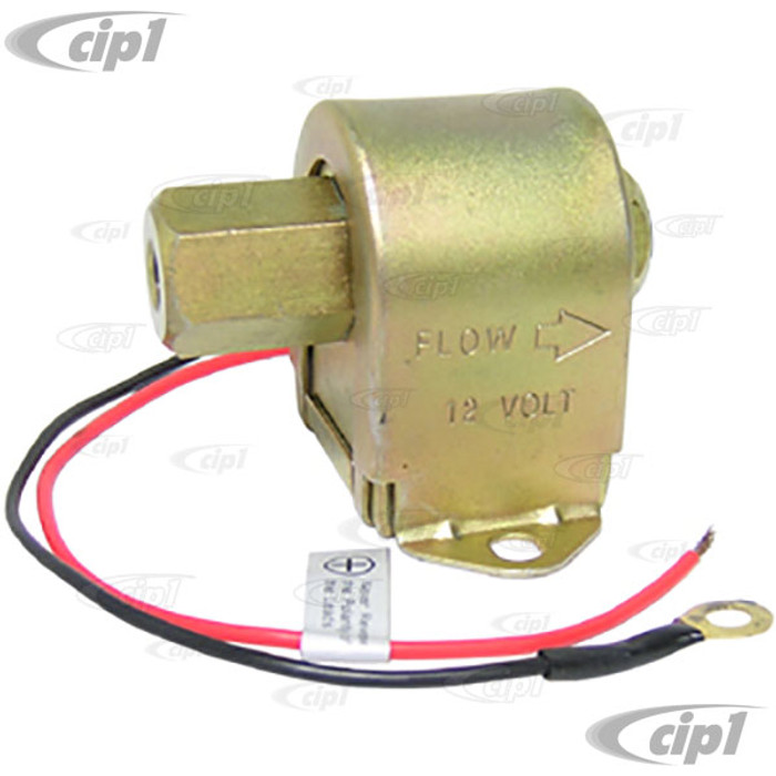 C13-41-2500-8 - 12 VOLT ELECTRIC FUEL PUMP - 1.5-4 PSI - SOLID STATE WITH HD METAL CASE (FITTING SOLD SEP.)