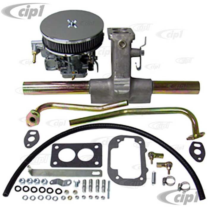 C13-47-0628 - EMPI 38 EGAS - 38MM 2-BARREL SYNCHRONIZED CARB KIT FOR 1600CC DUAL PORT BEETLE STYLE ENGINES 71-74 (MUST USE ELECTRIC FUEL PUMP) - (A20)