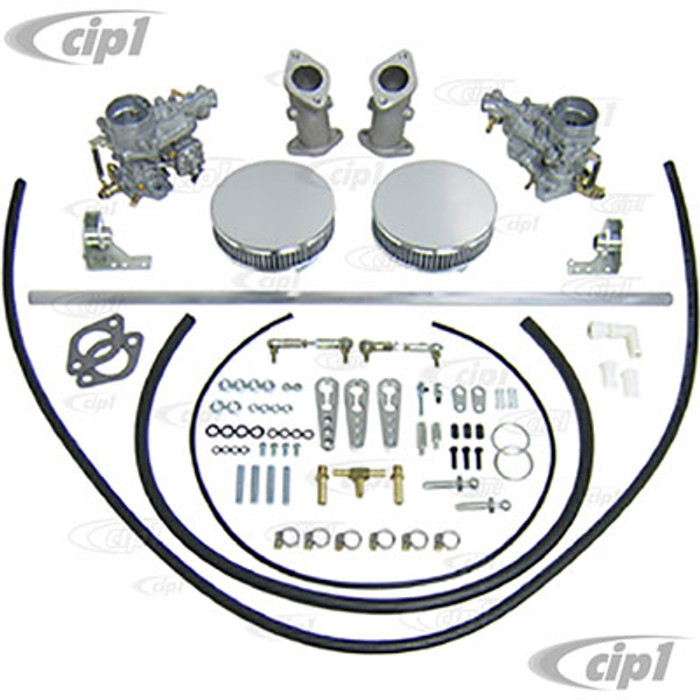 C13-47-7301 - DUAL EMPI 34MM EPC CARB KIT W/ HEX BAR LINKAGE FOR ALL TYPE-3 SINGLE PORT ENGINES - (A30)