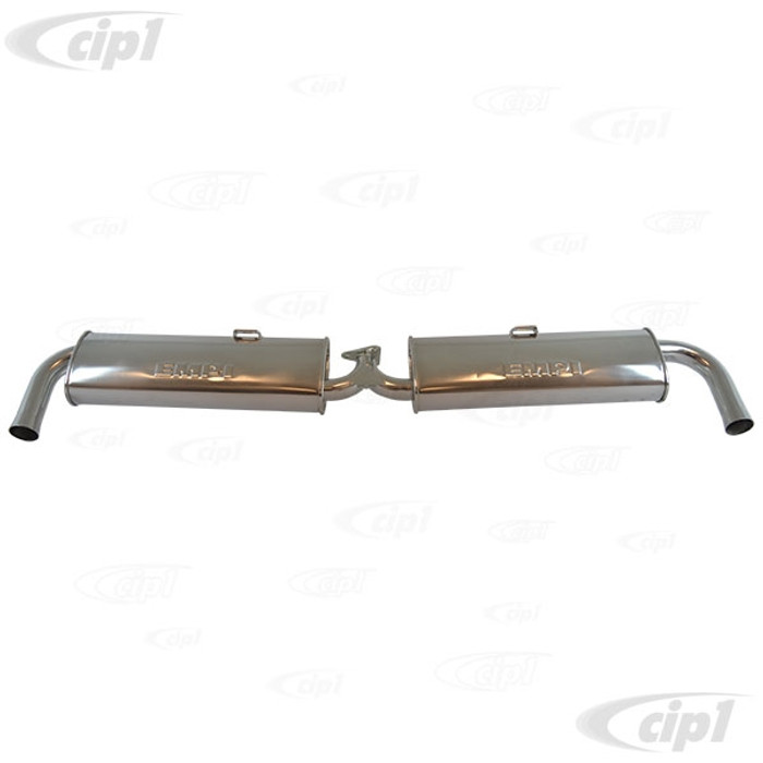 C13-55-3667 - EMPI - CERAMIC COATED REPLACEMENT DUAL QUIET MUFFLER WITH CHROME TIPS - (FOR C13-3655) - BUS 66-71 - SOLD EACH