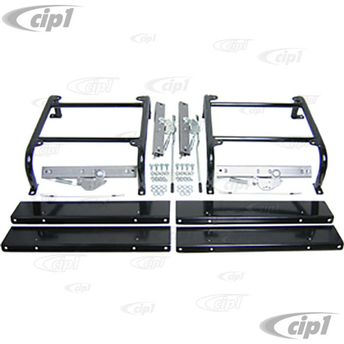 C13-62-2644 - UNIVERSAL 6 INCH TALL SEAT MOUNTING KIT WITH DUAL SLIDERS FOR BOTH DRIVER AND PASSENGER SEATS - 1 KIT DOES 2 FRONT SEATS