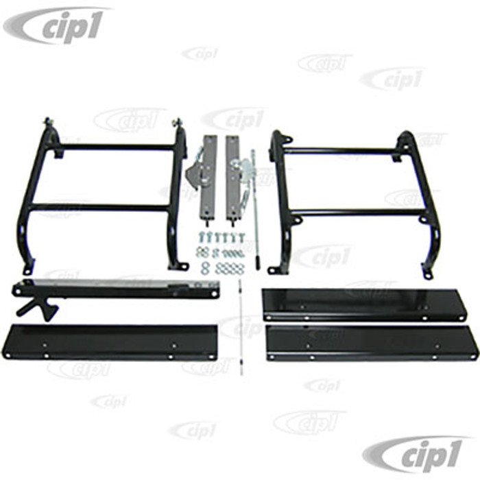 C13-62-2655 - LOWER PROFILE (4 INCH TALL) UNIVERSAL SEAT MOUNTING KIT WITH DRIVER SIDE SLIDER AND PASSENGER TILT - 1 KIT DOES 2 FRONT SEATS