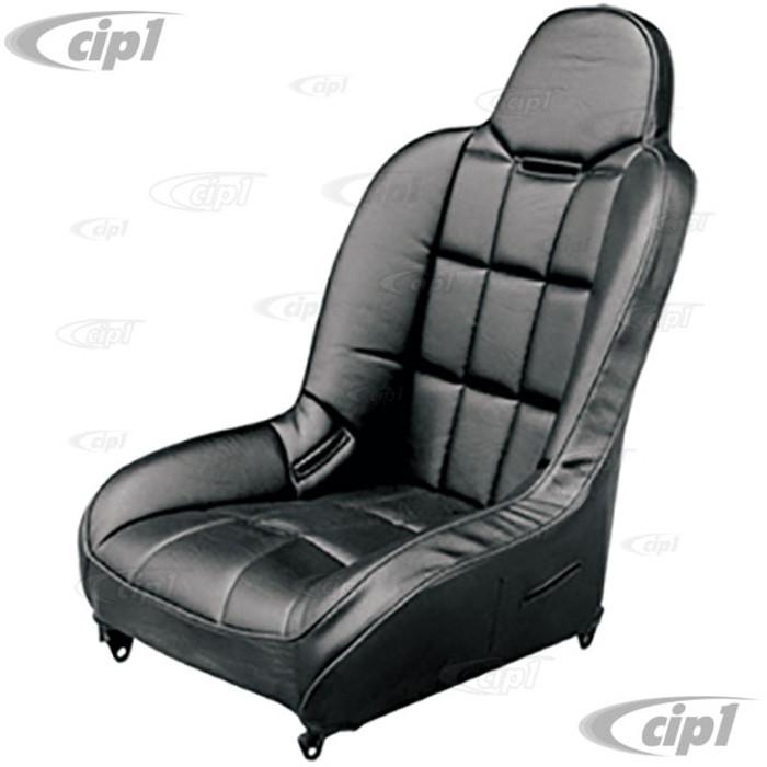 C13-62-2795 - EMPI - RACETRIM WIDE BASE HI-BACK FULL SUSPENSION SEAT - BLACK VINYL - BLACK VINYL - SOLD EACH - (A50)