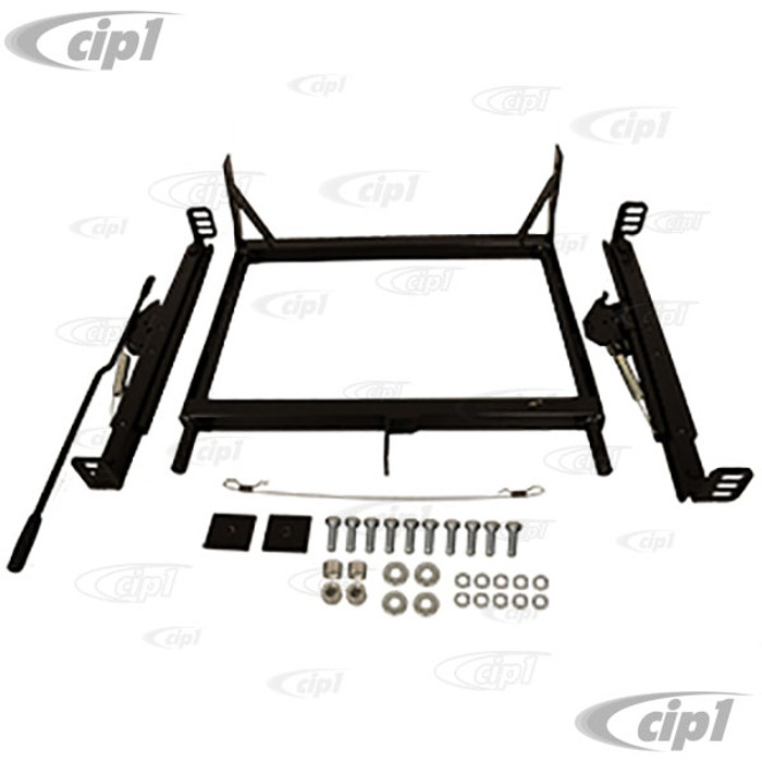 C13-62-2874 - BOLT-IN SEAT MOUNT ADAPTER KIT WITH SLIDERS/WIRE/INSTRUCTIONS - T1 BEETLE 73-79 - LEFT OR RIGHT FRONT - SOLD EACH