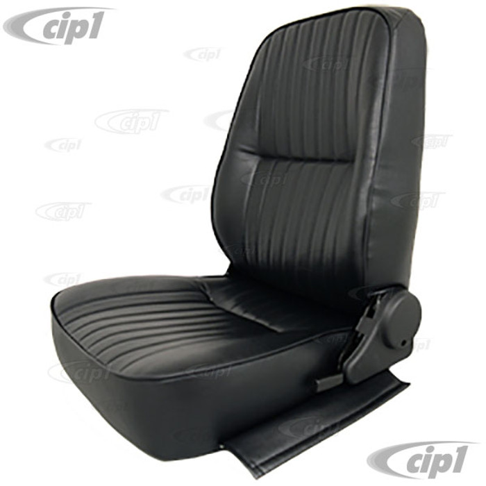 C13-62-2950 - LOW BACK BUCKET SEAT (WITHOUT HEAD REST) - LEFT SIDE - BLACK VINYL - SOLD EACH (A20)