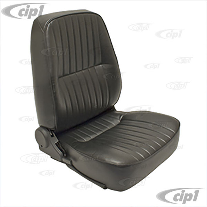 C13-62-2951 - LOW BACK BUCKET SEAT (WITHOUT HEAD REST) - RIGHT SIDE - BLACK VINYL - SOLD EACH (A20)
