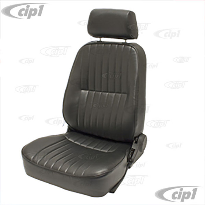 C13-62-2960 - LOW BACK BUCKET SEAT (WITH HEAD REST) - LEFT SIDE - BLACK VINYL - SOLD EACH (A20)