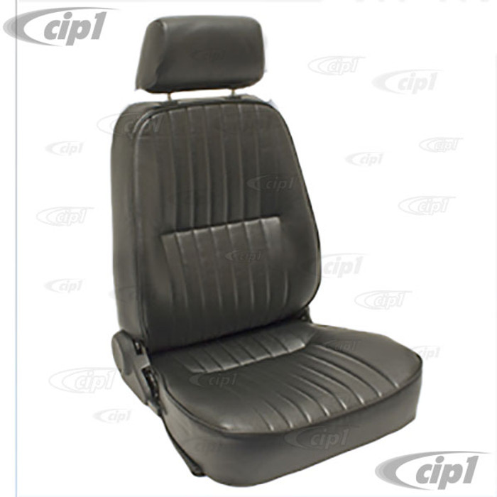 C13-62-2961 - LOW BACK BUCKET SEAT (WITH HEAD REST) - RIGHT SIDE - BLACK VINYL - SOLD EACH (A20)