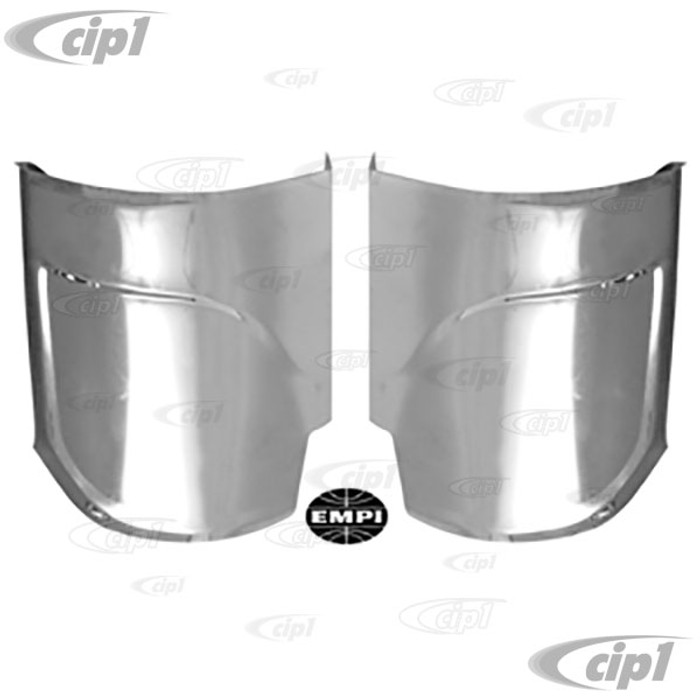 C13-6440 - EMPI - STAINLESS STEEL REAR FENDER GUARDS WITH PLASTIC TRIM - BEETLE 46-79 - SOLD PAIR