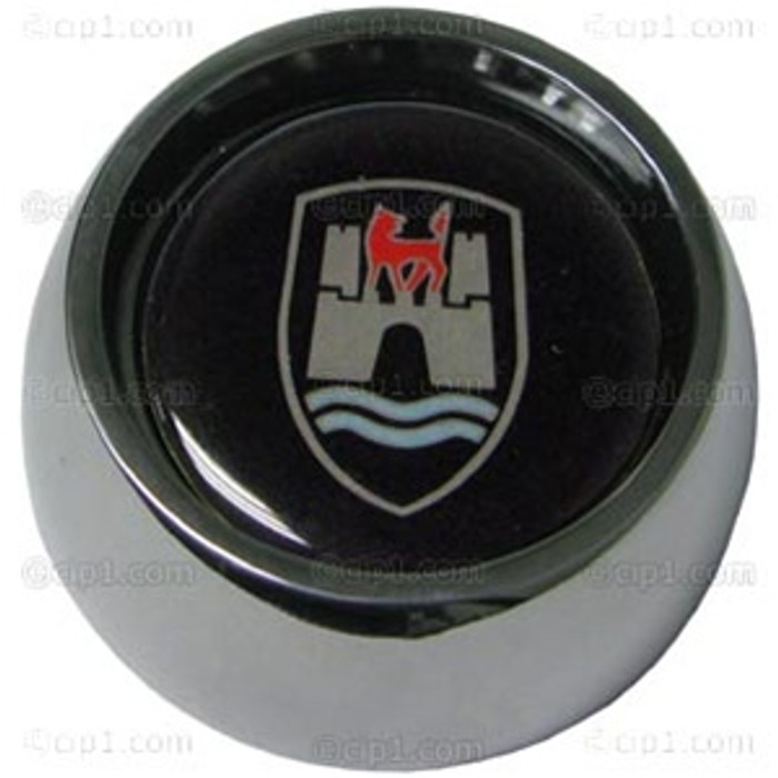 C13-79-4040-WB - GTV STYLE TALL HORN BUTTON WITH WOLFSBURG EMBLEM (55MM DIA.) FOR ALL GRANT WHEEL ADAPTER KITS