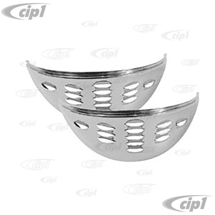 ACC-C10-3371 - LOUVERED CHROME EYEBROWS - ALL BEETLE / BUS / TYPE 3 / THING