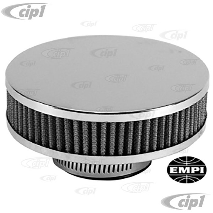 C13-9128 - EMPI - TYPE-3 LOW PROFILE 34 EPC/ICT CARB. AIRCLEANER - 1 PIECE CONSTRUCTION WITH CHROME TOP W/ WASHABLE GAUZE ELEMENT - EACH