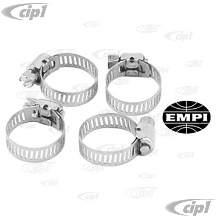 C13-9225 - EMPI BRAND -HOSE CLAMPS -  3/8-1/2INCH DIAMETER - PACK OF 4
