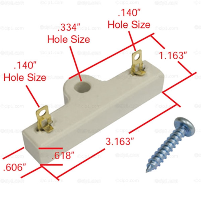 C13-9401 - EMPI - HEAVY DUTY CERAMIC EXTERNAL BALLAST RESISTOR - 1.35 OHMS - IMPROVES POINT AND ELECTRIC MODULE LIFE - SOLD EACH