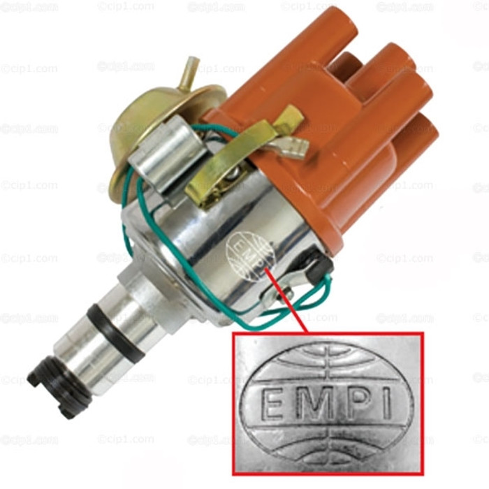 C13-9440-B - EMPI - (043-905-205 043905205) CHROME VACUUM ADVANCE (SVDA) DISTRIBUTOR - COMPLETE WITH CAP/ROTOR/POINTS/CONDENSER - ALL BEETLE STYLE ENGINES - SOLD EACH