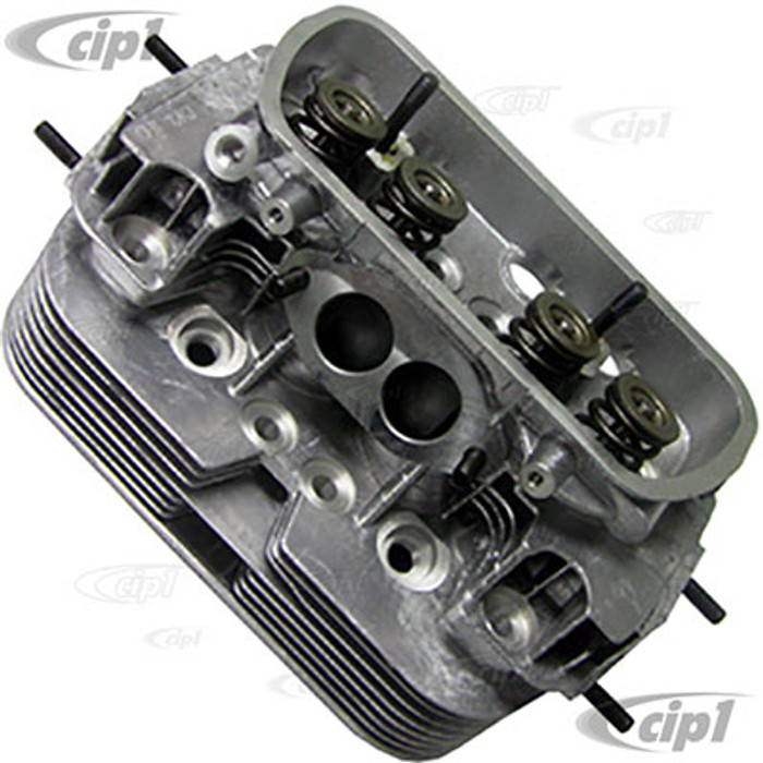 C13-98-1325-B - EMPI (043-101-355-C 043101355C) - COMPLETE DUAL PORT CYLINDER HEAD - WITH 12MM x 3/4 IN. SPARK PLUG HOLE - STOCK 1600CC BEETLE/GHIA 71-79 - BUS 1971 (WITH F/I SENSOR BOSS) - SOLD EACH