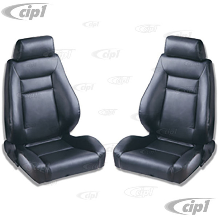 C15-80-1100-51 - SCAT ELITE RECLINER SEAT BLACK VINYL - LEFT & RIGHT - WITHOUT MOUNTING ADAPTERS - SOLD PAIR
