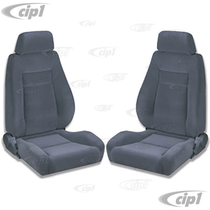 C15-80-1100-61 - SCAT ELITE RECLINER SEAT BLACK VELOUR LEFT & RIGHT - WITHOUT MOUNTING ADAPTERS - SOLD PAIR