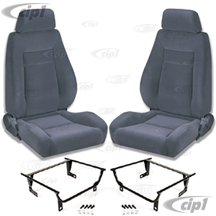 C15-80-1100-61-WA - SCAT ELITE RECLINER BLACK VELOUR LEFT & RIGHT PAIR - WITH MOUNTING  ADAPTERS (SPEC.YEAR/MODEL) - SOLD PAIR