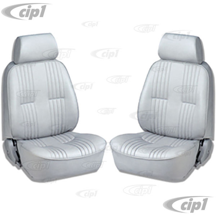 C15-80-1300-52 - SCAT PRO 90 RECLINER SEATS WITH HEADREST - GREY VINYL - LEFT & RIGHT - WITHOUT MOUNTING ADAPTERS - SOLD PAIR