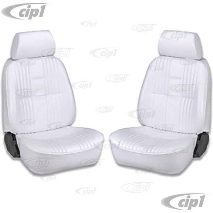C15-80-1300-53 - SCAT PRO 90 RECLINER SEATS WITH HEADREST - WHITE VINYL - LEFT & RIGHT - WITHOUT MOUNTING ADAPTERS - SOLD PAIR