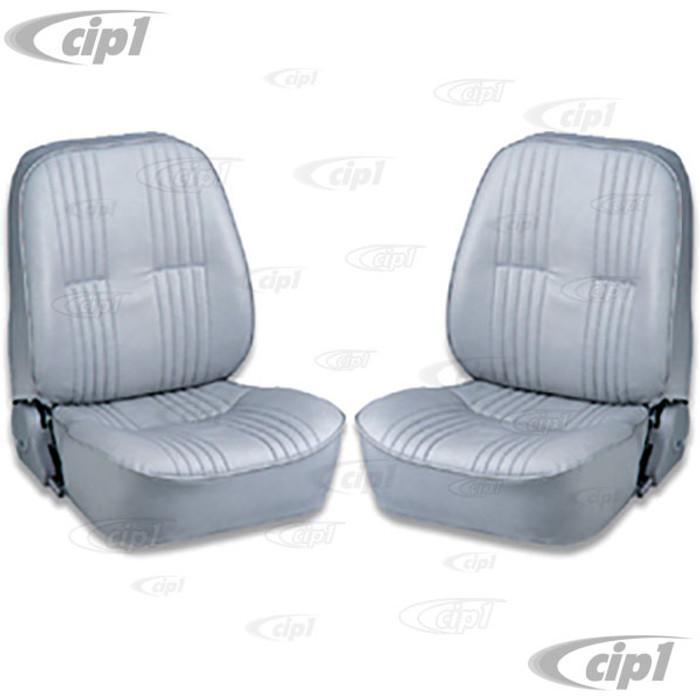 C15-80-1400-52 - SCAT LOWBACK RECLINER SEATS WITHOUT HEADREST - GREY VINYL LEFT & RIGHT PAIR  - (A100)