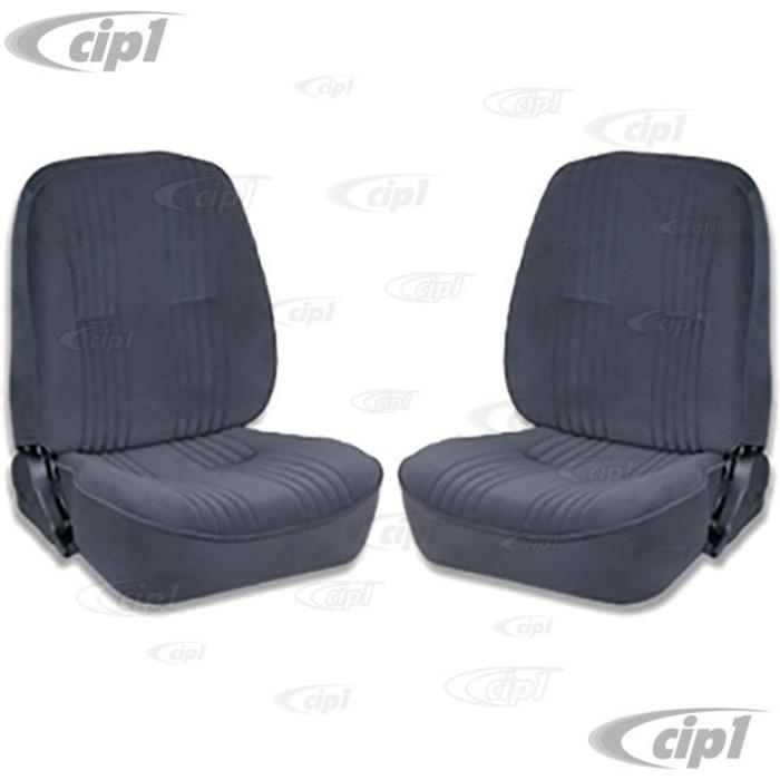 C15-80-1400-61 - SCAT LOWBACK RECLINER SEATS WITHOUT HEADREST - BLACK VELOUR LEFT & RIGHT PAIR - (A100)