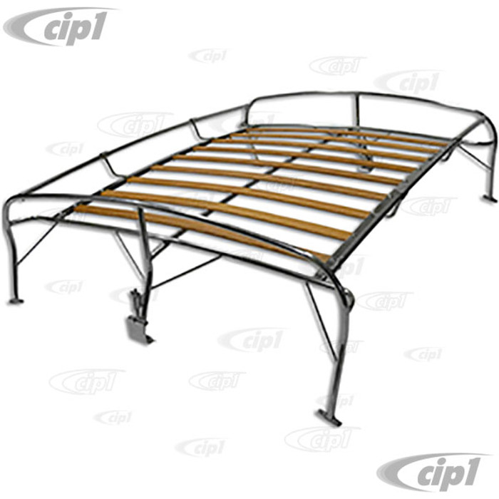 ACC-C10-3891-SS - STAINLESS STEEL ROOF RACK WITH WOOD SLATS - ( SHIPPABLE BY UPS ) BEETLE 46-77 - (A60)