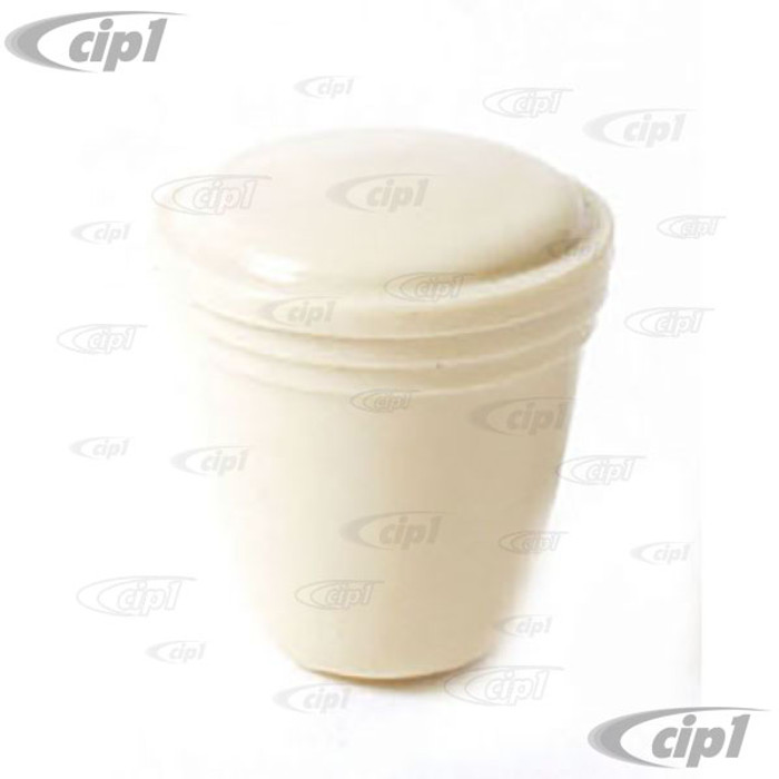 C16-111-542-IV - (113-941-541IV 113941541IV) - IVORY DASH KNOB - 5MM - HEADLIGHT/ASHTRAY AND VARIOUS - SEE NOTES - BEETLE 52-66/GHIA 56-66/BUS 55-66/TYPE-3 65-66 - SOLD EACH