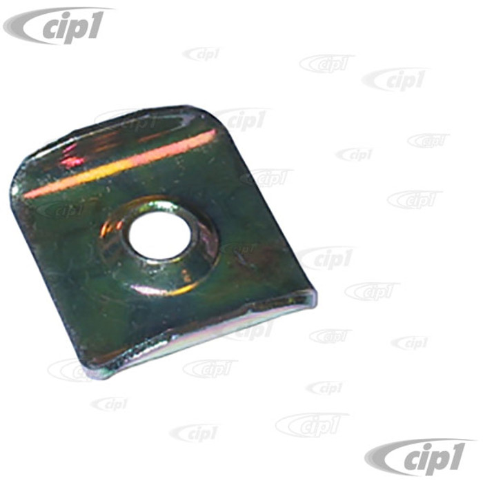 C16-111-589 - (111-885-589 111885589) - MOUNTING PLATE FOR SEAT RETAINING STRAP - SCREW NOT INCLUDED - BEETLE 46-79 - GHIA 56-74