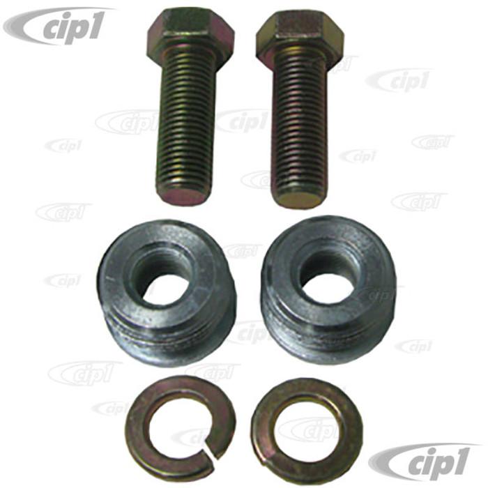C16-111-702-HRD-PR - (ZVW20PLUG) - PAIR OF  22MM SEATBELT ADAPTER PLUGS & BOLTS - BEETLE/GHIA 62-65 - BUS 62-67 - SOLD PAIR
