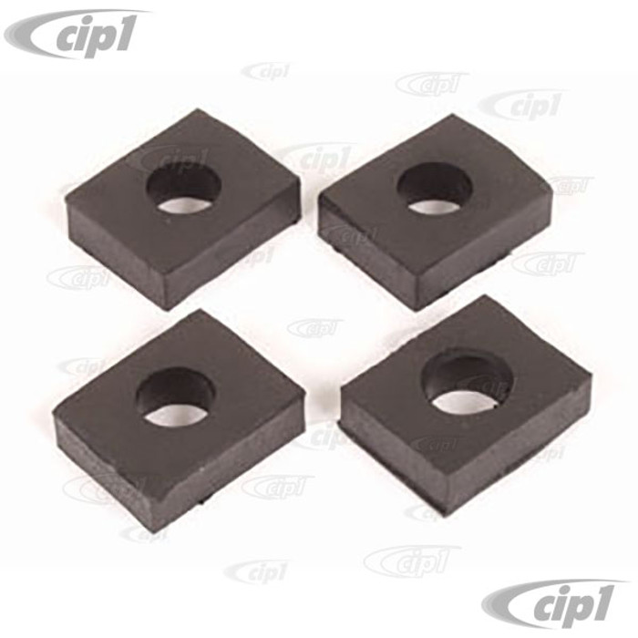 C16-113-115A - (111-899-115A 111899115A) GERMAN - 10MM VIBRATION DAMPING RUBBER PADS - 10MM BETWEEN TORSION HOUSING/FRAME OR FRONT BEAM TO BODY - BEETLE 46-79 / GHIA 56-74 / VW THING 69-74 - SOLD SET OF 4