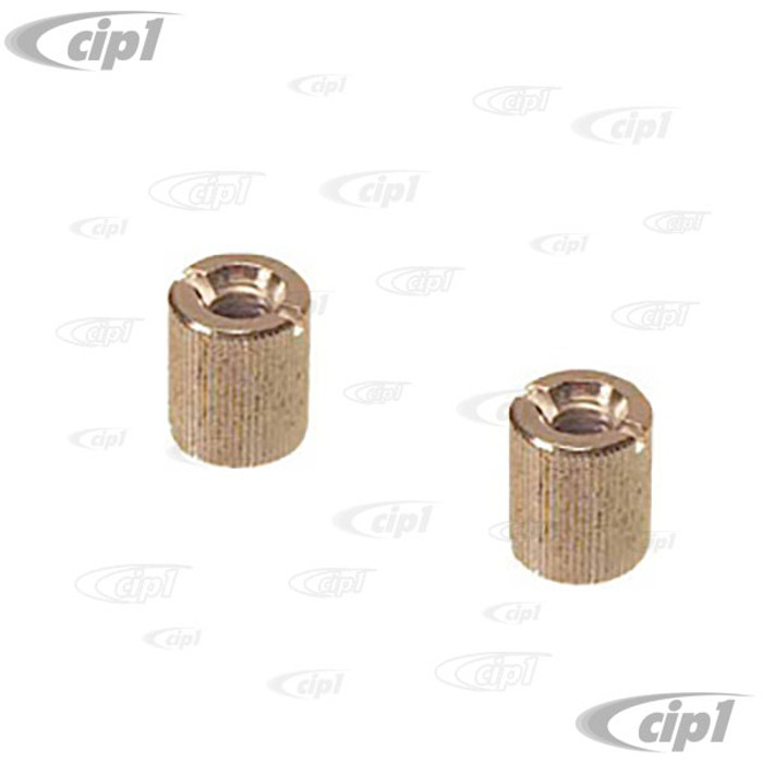 C16-113-527A - (113-867-527A 113867527A) - KNURLED NUTS FOR FASTENING WIRING COVER TO BODY BEETLE 58-78 - SOLD PAIR