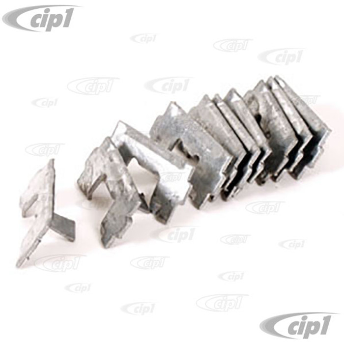 C16-113-559A - (113-853-559A 113853559A) - CLIPS FOR 18MM WIDE RUNNING BOARD MOLDING - BEETLE 65-72 - SOLD 10 PIECE SET