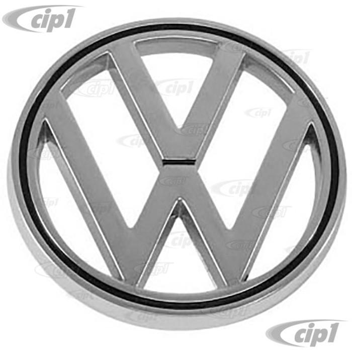 C16-113-601B - (113-853-601-B 113853601B) - GENUINE VW GERMAN - FRONT HOOD EMBLEM - BEETLE 64-79 / TYPE-3 62-69 - SOLD EACH