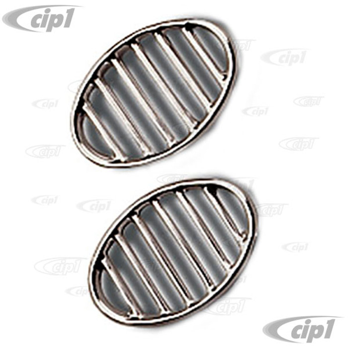 C16-113-641A - (113-853-641-A 113853641A) GOOD REPRODUCTION - PAIR OF HORN GRILLS - BEETLE 52-67 - SOLD PAIR