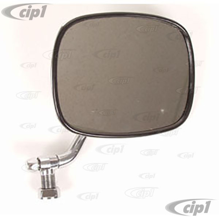 C16-211-513F-L - (211-857-513F 211857513F) - CHROME OUTSIDE MIRROR ( ECONO QUALITY - NO WARRANTY SEE NOTES ) LEFT - BUS 68-79 - SOLD EACH
